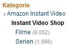 amazon instant video shop umfang