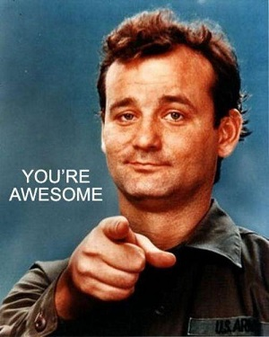 bill murray you are awesome