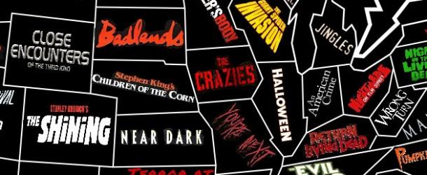 US Horror Map: Karte zeigt wo Horrorfilme in den USA spielen
