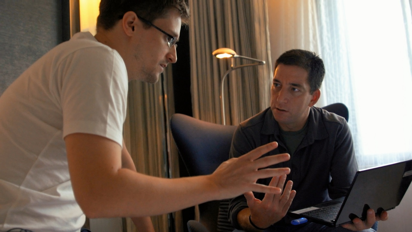 Edward Snowden und Glenn Greenwald in Hongkong
