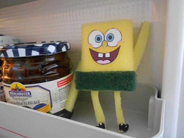 SpongeBob ganz cool im Kühlschrank