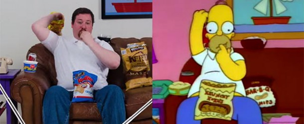 "Futtern wie Homer Simpson – ""Snacking with Homer Simpson"""