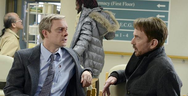 Lester Nygaard (Martin Freeman) und Lorne Malvo (Billy Bob Thornton) im Gespräch (c) FX Networks