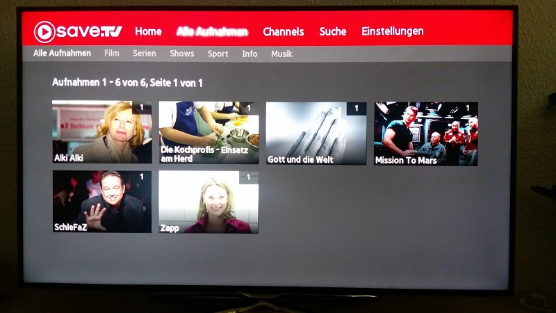 save tv bei samsung smart tv test