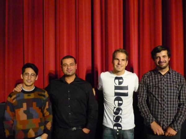 Foto von der Premiere von Wir sind die Flut mit Regisseur und Produzent