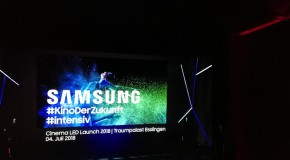 Deutschlandpremiere des Samsung Cinema LED Screen: Kino ohne Projektor